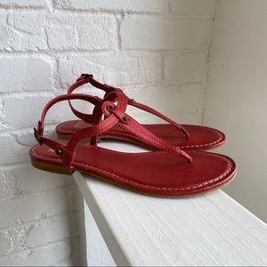 Frye Carson Thong Sandals Sz 8